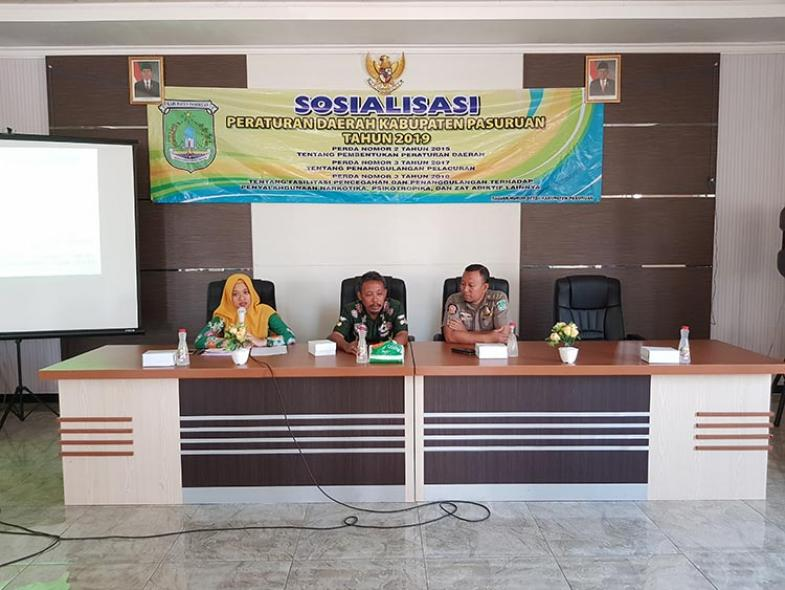 Sosialisasi Prodak Hukum Daerah Kecamatan Sukorejo, 24 Oktober 2019