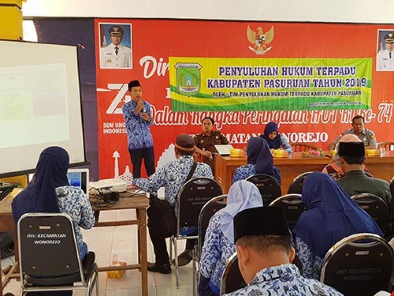 Penyuluhan Hukum Terpadu (PHT) Kecamatan Wonorejo, 17 September 2019