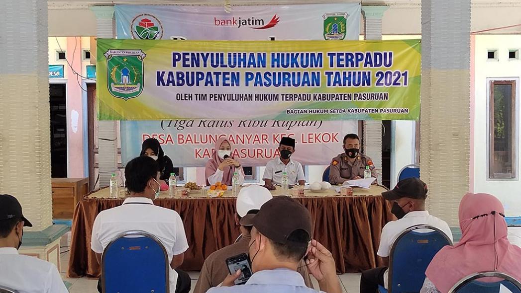 Penyuluhan Hukum Terpadu (PHT) Desa Balunganyar Kecamatan Lekok, 15 September 2021